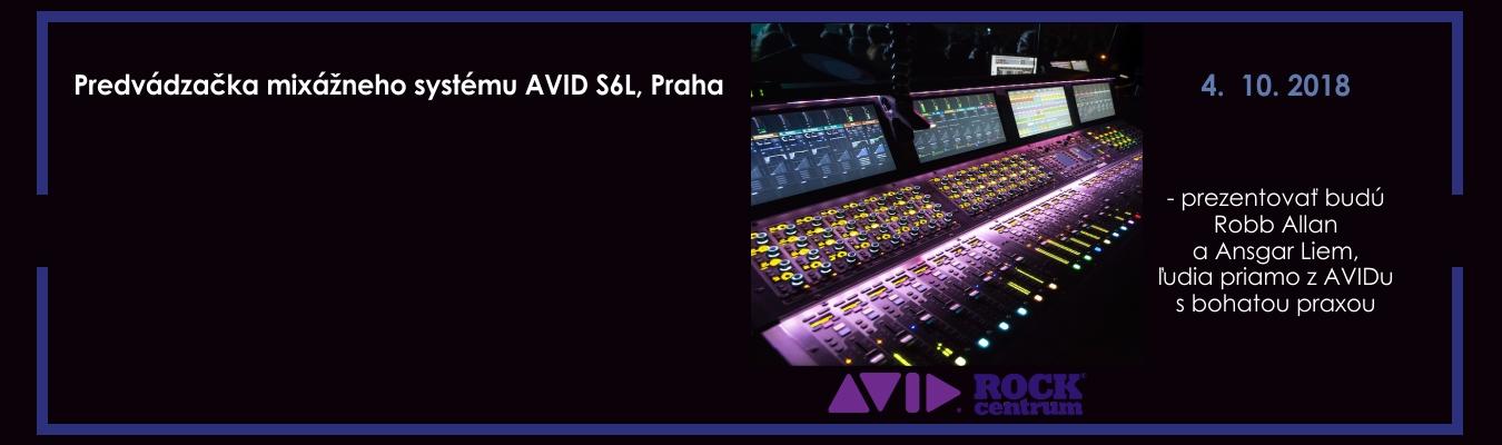 Predvádzačka mixážneho pultu AVID S6L, 4. 10. 2018 v Prahe s personálom z AVIDu