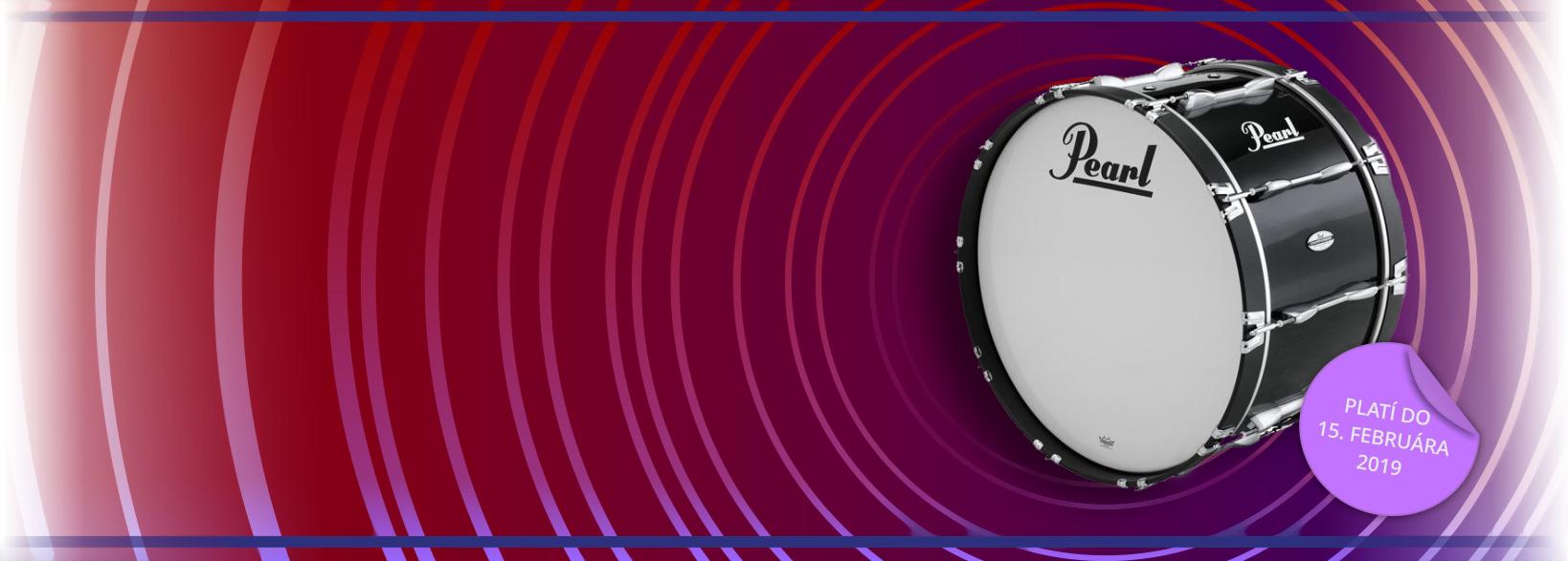 Akcia na bubny a hardware značky Pearl, zľavy až 20%