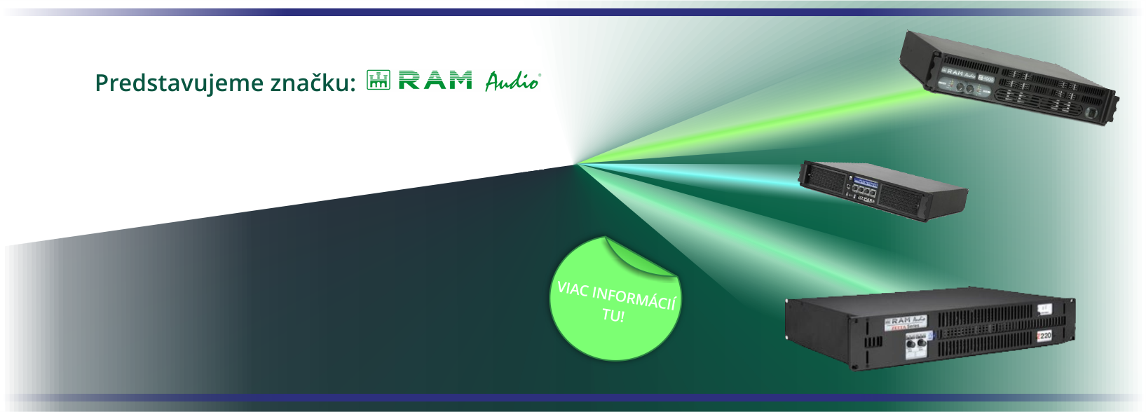 RAM Audio - profesionálne audio zosilňovače!